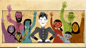 Nellie Bly google doodle, May 5, 2015.