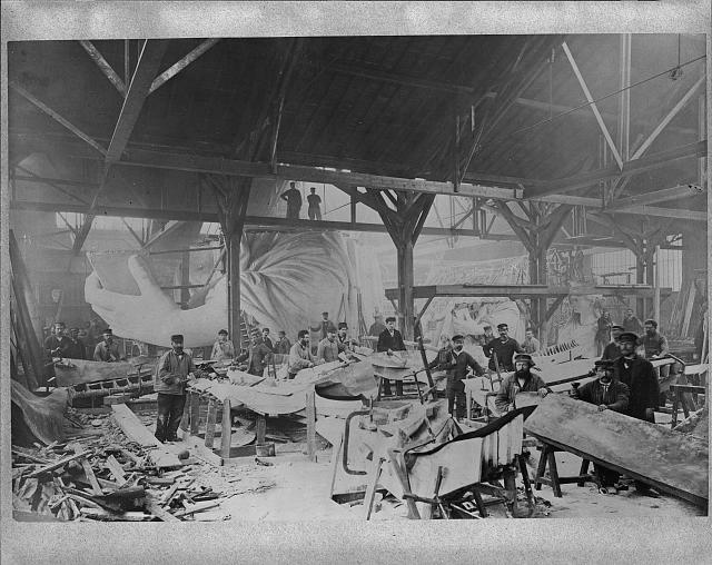 Statue of Liberty In Parisian Warehouse. 1883.