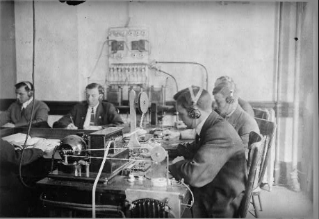 A Marconi Wireless Telegraphy School. Library of Congress.