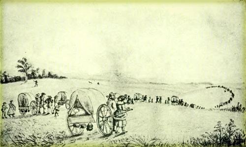 Mormon Hand-Cart Train-History of Iowa, Wikipedia.