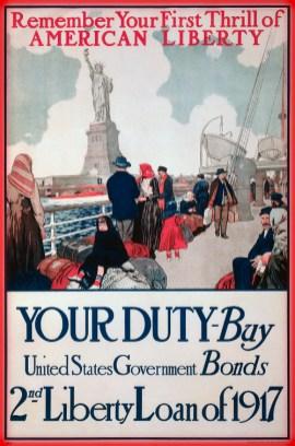 Statue of Liberty U.S. Bond Poster, 1917.