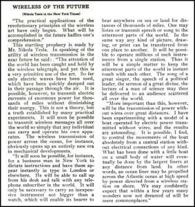 New York Times, 1909.