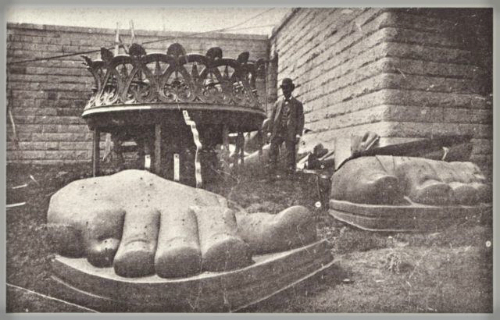 Statue of Liberty's Toes.