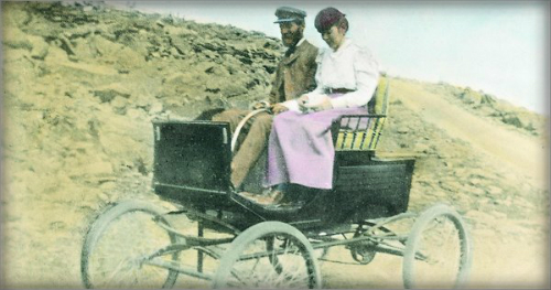 Francis and Flora Stanley Drive Up Mt. Washington, 1899. N.Y. TImes.