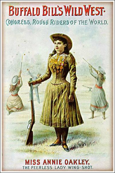 Annie Oakley In Buffalo Bill's Wild West Show Poster, 1880s.