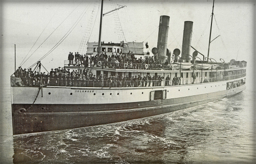 Steamship Leaves Vancouver, B.C. For Skagway Bay.