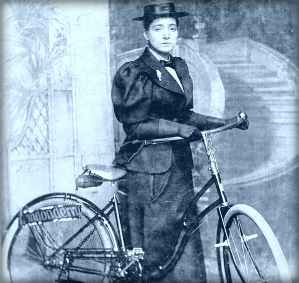 Annie Londonderry With Her Bike, 1890s.