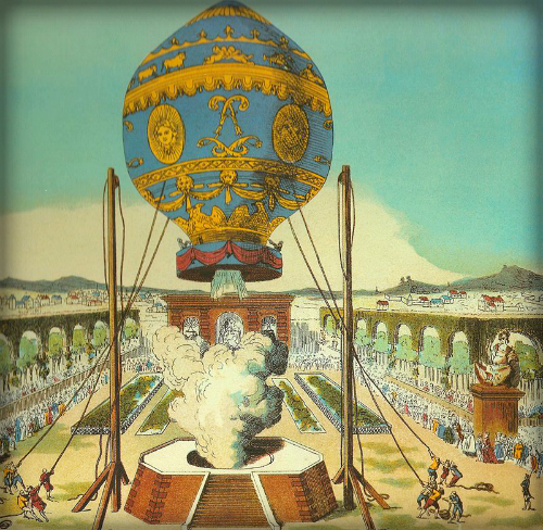 Montgolfier Brothers Balloon, 1783.