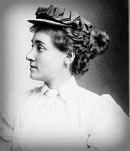 """Annie """"Londonderry"""" Kopchovsky, 1890s."""