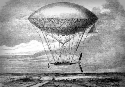 Henri Dupuy Lome's Dirigible, 1872.