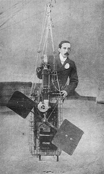 Santos-Dumont, Basket And Engine For No. 1, 2, 3. Photo: Revista Moderna, 1899.