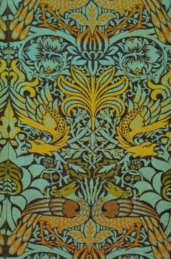 Victorian Era, Morris Peacock Dragon Fabric, 1878.