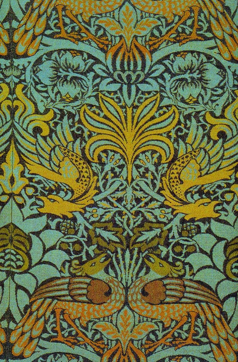 Victorian Era, Morris Peacock Dragon Fabric, 1878.