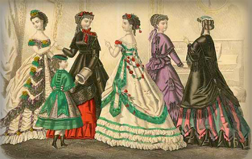 Godesy Fashion Plate, 1869. Image: Library of Congress.