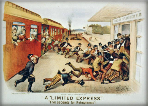 Limited Express, 1884. Image: Library of Congress.
