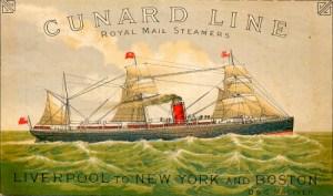 Bothnia, Cunard Line, 1890. Image: Wikipedia.