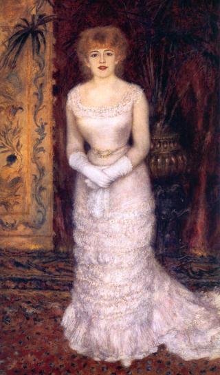 Pierre-Auguste, Renoir Portrait Of Jeanna Samary, 1878. Image: Wikipedia.