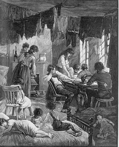 New York Tenement, 1883.