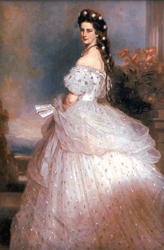 Elisabeth of Austria, Painting By Winterhalter 1864. Image: Wikipedia.