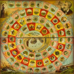 Nellie Bly Around The World Game Board, 1889-90.