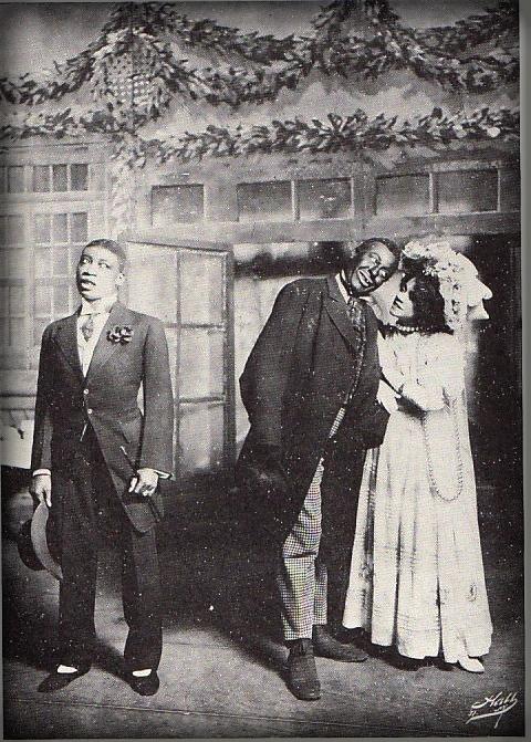 Aida Overton With Bert Williams and Husband, George Walker.