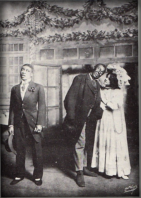 Aida Overton With Bert Williams and Husband, George Walker.