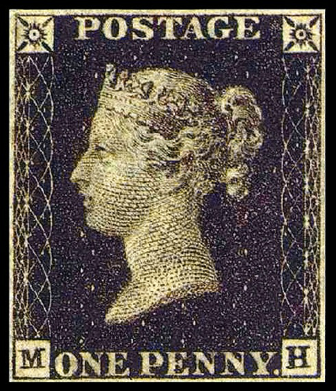 Victorian Era: One-Penny Stamp.