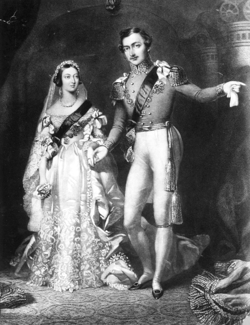 Queen Victoria, Prince Albert Return From Wedding At St James's Palace, London. Original Artwork: Engraved by S Reynolds, F Lock.