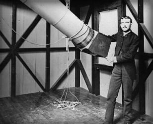 Henry Draper With Refractor Telescope, 1860s.