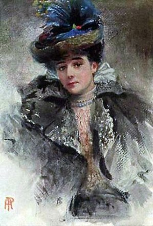 Lady Colin Campbell (Gertrude Elizabeth Blood) by Percy Anderson. Image: Wikipedia.
