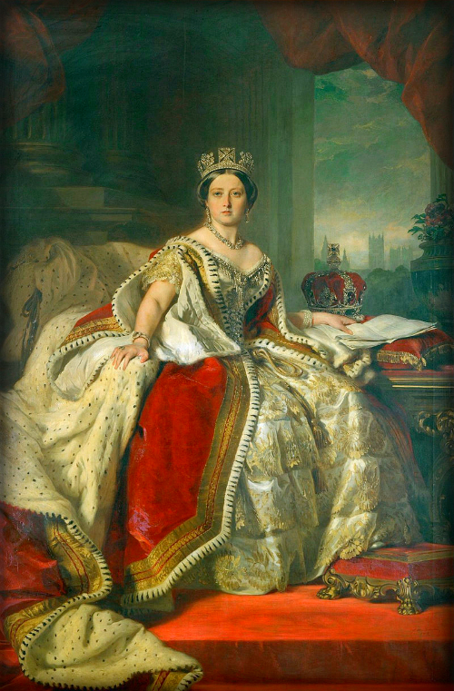 Queen Victoria, by Franz Xaver Winterhalter, 1859. Wikimedia Commons.