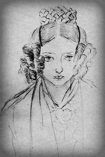 Queen Victoria, Self-portrait, 1835.