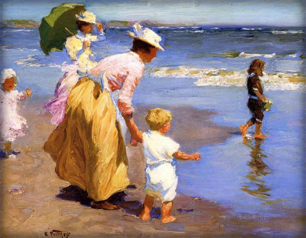 Edward Henry Potthast: At The Beach.