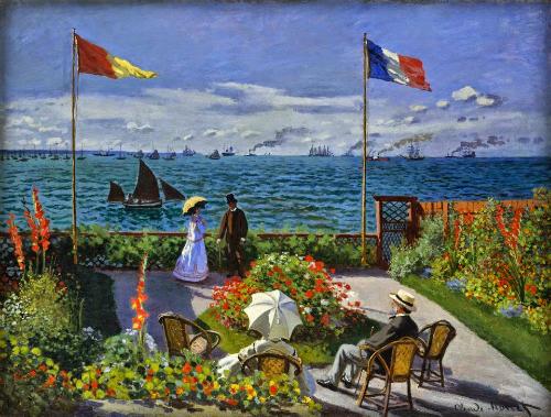 Claude Monet: Jardin à Sainte-Adresse, 1867.