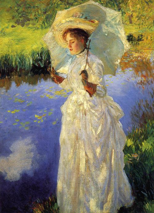 John Singer Sargent: Morning Walk, 1888. (Artist's Sister, Violet.)