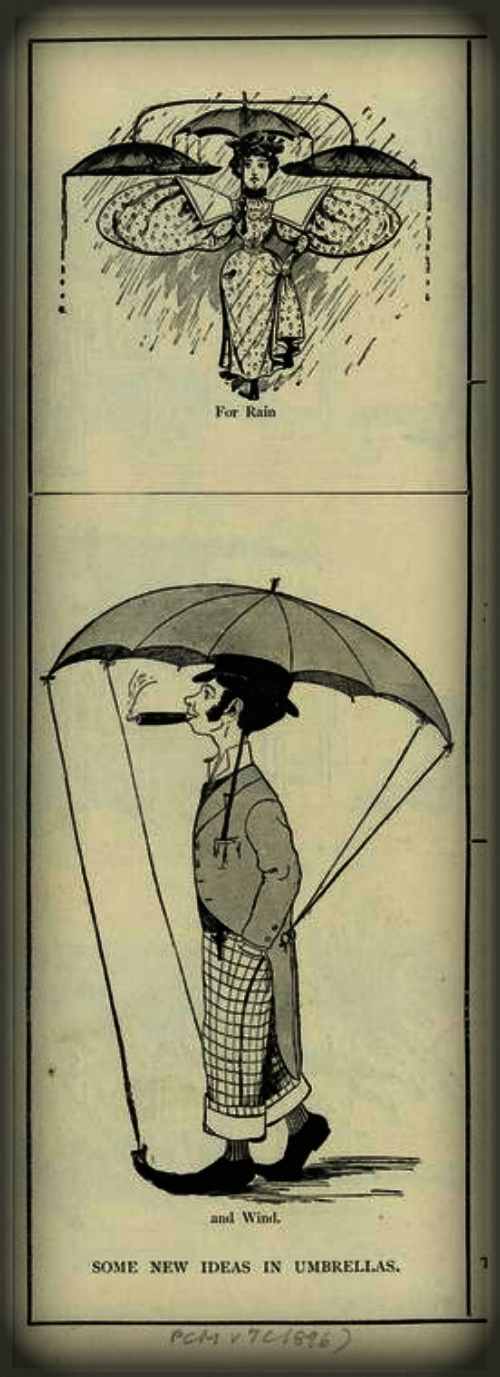 Some New Ideas In Umbrellas, 1896. NY Public Library Digital Editions.