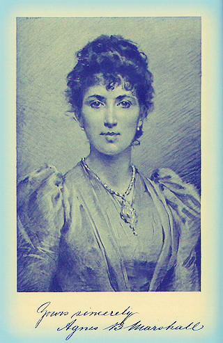 Agnes B. Marshall, From He Cookbook. Image: Wikipedia.