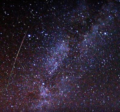 Perseid Meteor and Milky Way, 2009. Image: Brocken Inaglory.