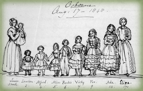Queen Victoria's Nine Children. Image: English Heritage.