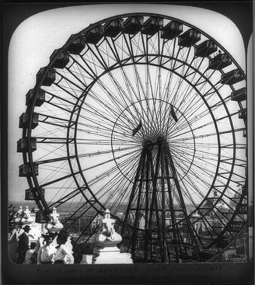 Ferris Wheel, World's Fair St. Louis, 1904. Image: Library of Congress.