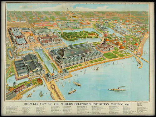 World's Columbian Exposition, Chicago 1893. Image: Library of Congress.