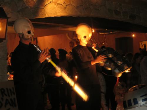 Halloween Visitors, Malibu, CA. Image: B. Rose.