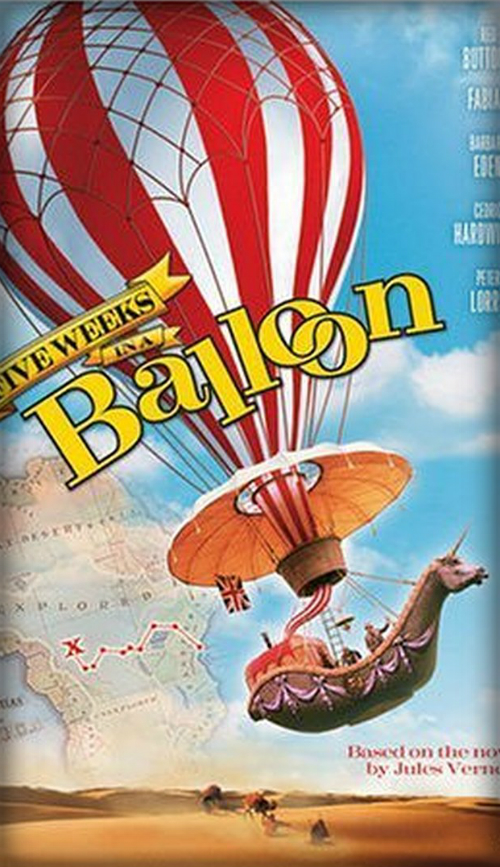 Five Weeks In a Balloon Move Poster. Image: Wikipedia.