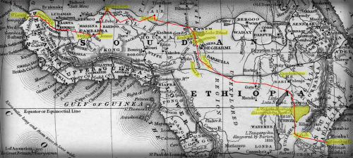 Jules Verne Five Weeks In A Balloon Map.