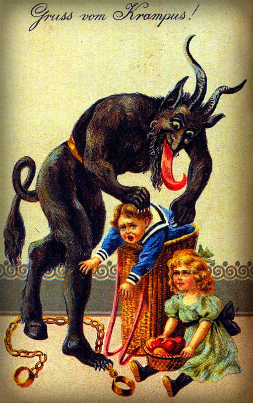 Krampus, Greetings, 1900s. Wikipedia.