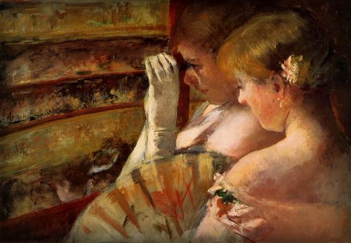 Mary Cassatt: In The Box, 1879. Image: Wikipedia.