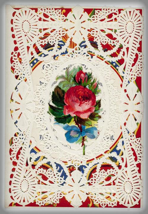 Esther Howland Valentines: Rose. Image: Wikipedia.