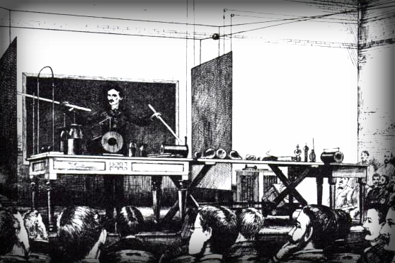 Nikola Tesla Papers, Wireless Power Lecture, 1891.