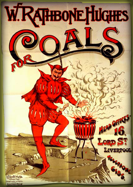 Coal Advertisement, Victorian Era.