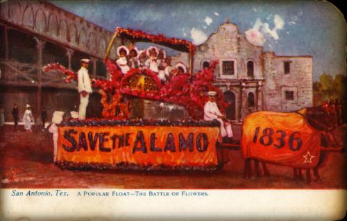San Antonio Battle Of Flowers Parade Float, 1907-11. Image: The University of Houston Digital Library: http://digital.lib.uh.edu.